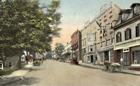 Main Street from its intersection with North and South Chestnut Streets.