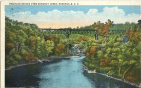 Postcard circa 1909 of Rosendale Trestle.