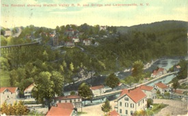 Postcard postmarked 1913 showing Lawrenceville. Many of the houses are still with us and visible from the trestle.