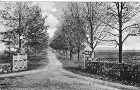 Postcard circa 1910 of Borden estate entrance. credit Collection of Vivian Yess Wadlin