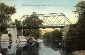This bridge over the Rondout was replaced. Card is postmarked July 1909.