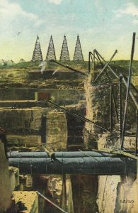 Construction of the Ashokan postcard, postmarked 1908