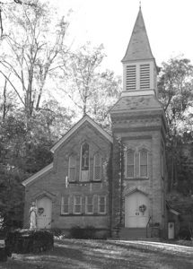 The Roseton Church still stands near what was the Rose brick company.